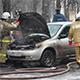 Напротив здания МЧС загорелся автомобиль